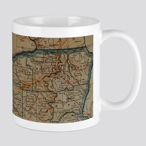 Vintage Map of Oregon (1921) Mugs